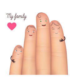 My family festive poster card vector