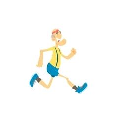 Old man jogging vector