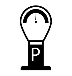 parking time icon simple style vector image vector image