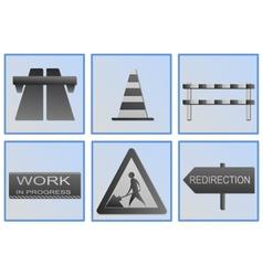 Road work symbols vector