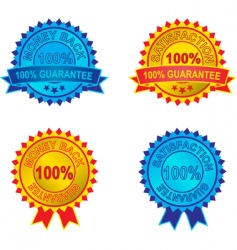 set of guarantee labels vector image