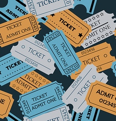 ticket admit one seamless pattern vector image