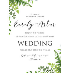 Wedding invite invitation save the date card deli vector
