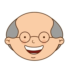 Cute grandfather character icon vector