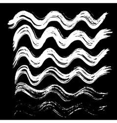 White ink brush strokes vector