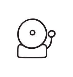 Fire alarm sketch icon vector