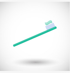 toothbrush flat icon vector image