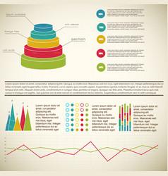 Vintage 3d diagram infographic vector