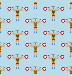 strong man in circus pattern vector image