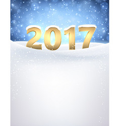 2017 new year background with snow vector