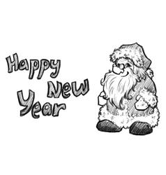 sketch of Santa Claus Christmas vector image
