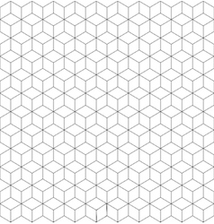 Gray and white cubes seamless pattern vector