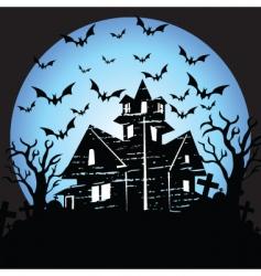 Halloween house vector image