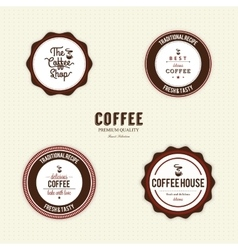 Delicious coffee labels vector