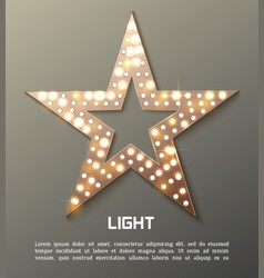 Star retro light banner vector