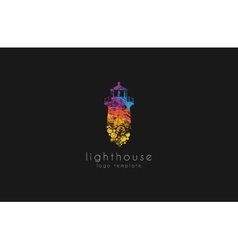 Lighthouse design rainbow lighthouse lighthouse vector