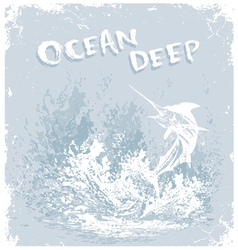 fish ocean deep vector image