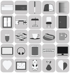 Studyflat icons vector
