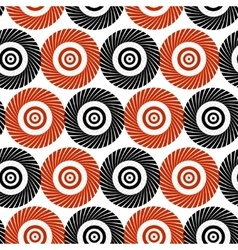 Black and red pattern of stylized circles vector