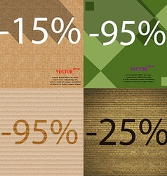 95 25 icon set of percent discount on abstract vector