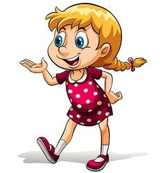 A young girl vector