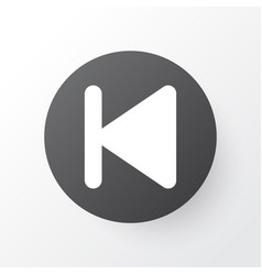 Backward icon symbol premium quality isolated vector