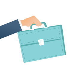 Businessman hand holding a briefcase vector