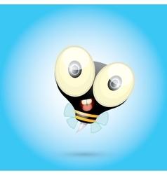 cartoon cute bright baby bee vector image