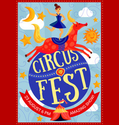 circus show poster vector image