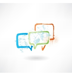 Coloured speech bubbles Brush icon vector image