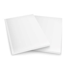 Couple of blank magazines template vector image vector image