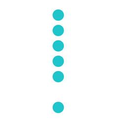 Digital exclamation mark display board round dot vector