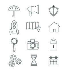 digital marketing and business icons vector image