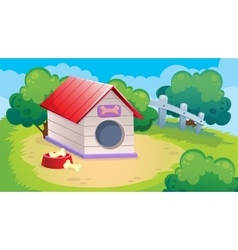 Game Background Of Dog vector image vector image