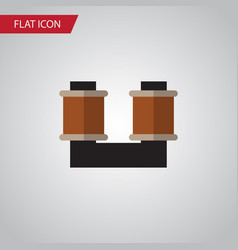 Isolated spool flat icon coil copper vector