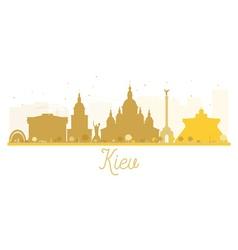 Kiev city skyline golden silhouette vector