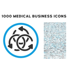 Knot rotation icon with 1000 medical business vector