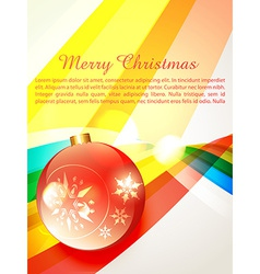 merry christas background vector image vector image