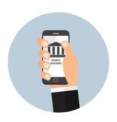 Mobile banking payment flat concept vector