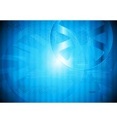 Modern blue tech design vector image vector image
