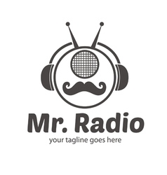 Mr Radio Logo vector image
