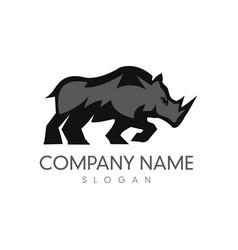 Rhino logo 3 vector