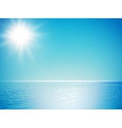 sea horizon vector image