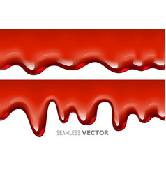 Seamless dripping red liquid is similar to vector