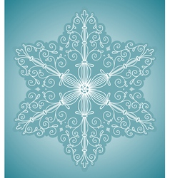 Snowflake design element vector image