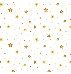 Stars seamless pattern white 3D retro vector image vector image