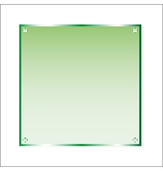 Sticker green glass isolated object vector image