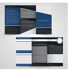 Tri fold business brochure template two sided vector image for Double sided tri fold brochure template