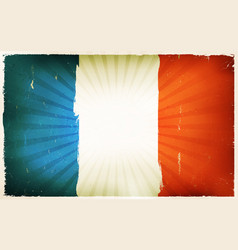 vintage french flag poster background vector image