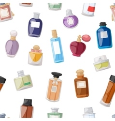 Perfume bottle seamless pattern vector image